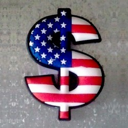 Magnet Dollar Drapeau Américain USA