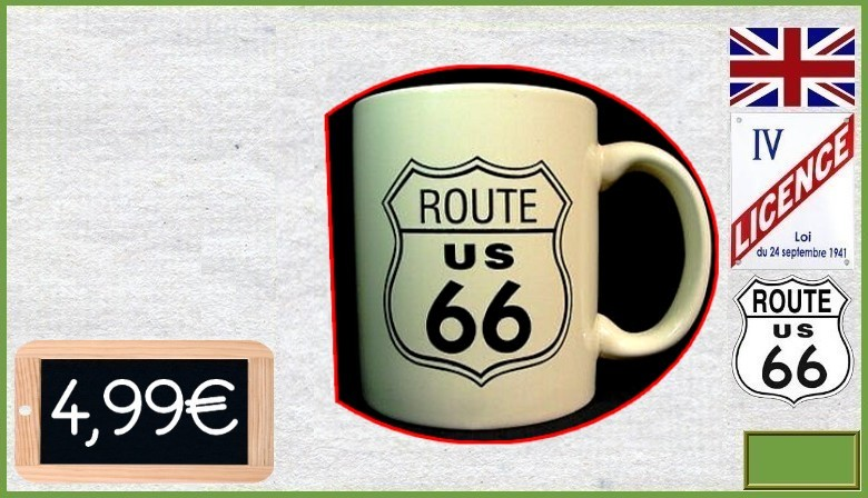 Mug en grès Interstate Route 66