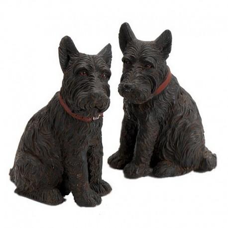 Lot de deux chiens Scottishs
