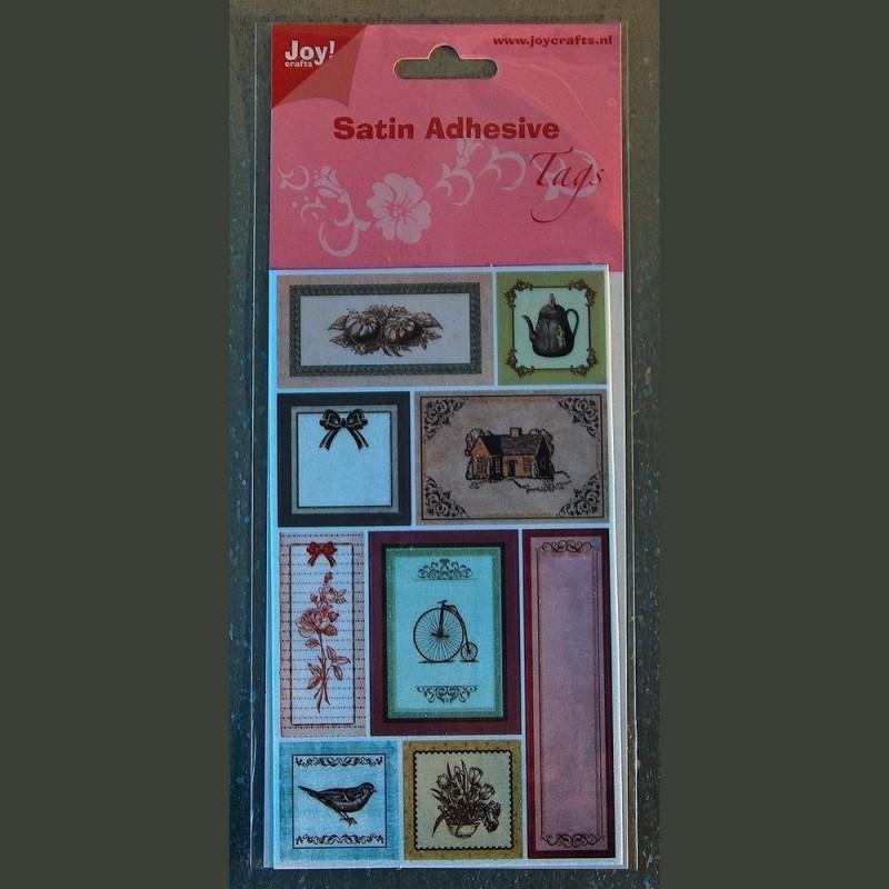 Planche De Neuf Stickers Satines Retro Vintage Joy Crafts
