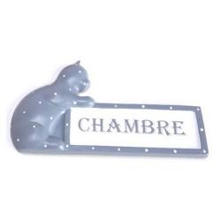 """Plaque de porte chat """"Chambre"""""""