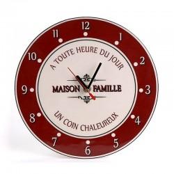 """Horloge """"Maison de famille"""""""