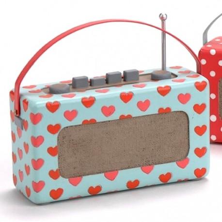 Tirelire Radio Rétro Coeurs