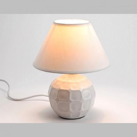Lampe céramique blanche et abat-jour