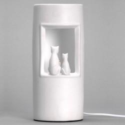 Lampe originale deux chats assis