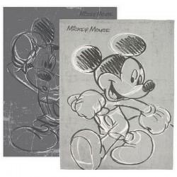 Deux torchons de cuisine gris Mickey Disney