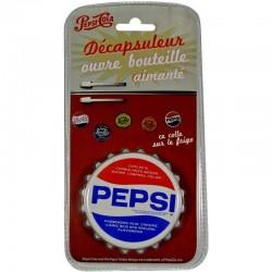 Décapsuleur aimanté Pepsi-Cola blanc