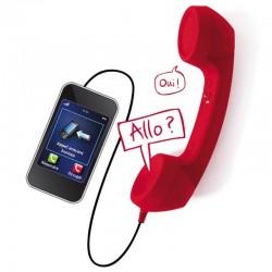 Combiné rétro rouge pour GSM