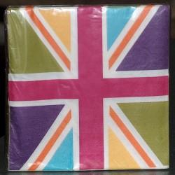 Serviettes papier Union Jack Colors