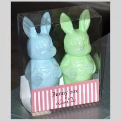 Bunny Box / Lapins plastiques bleu et vert