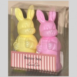 Boites lapins jaune et rose Bunny Box