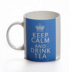 Mug Bleu Keep Calm And Drink Tea