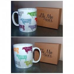 Mug boeufs colorés Lily Mae Soul