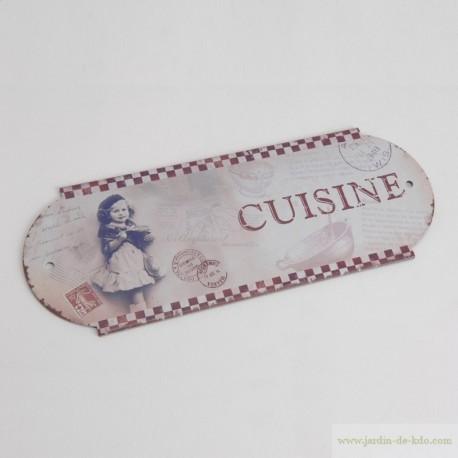 """Plaque de cuisine """"Damiers Vintage"""""""