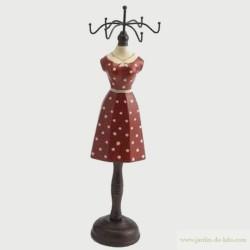 """Porte bijoux rouge """"Mannequin à pois"""""""
