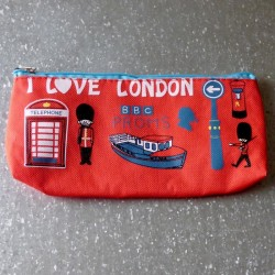 Trousse scolaire rouge I Love London BBC Sherlock