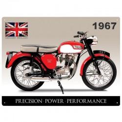 Plaque métal Triumph Tiger Cub Union Jack
