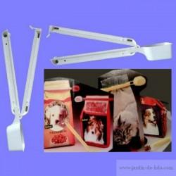 Doseur-Clip blanc pour sacs aliments animaux