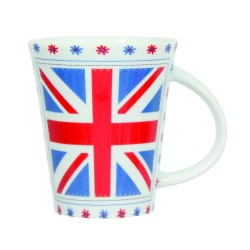 Mug Union Jack and Flowers