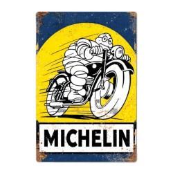 Plaque Michelin Bibendum en moto