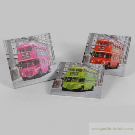 Trio toiles bus london pop art