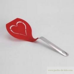 Spatule coeur inox et PVC alimentaire