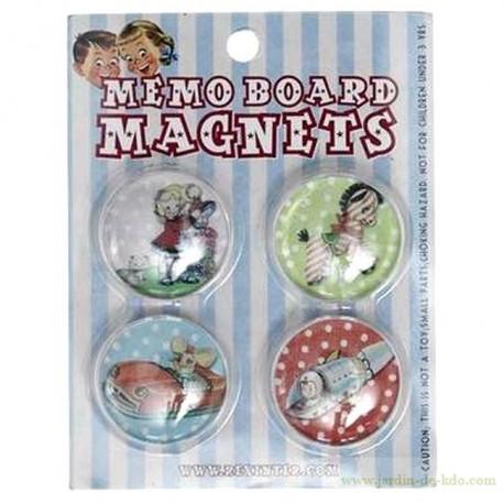 Pack magnets rétro souvenirs d'enfance rexinter