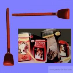 Clip doseur rouge sac croquettes