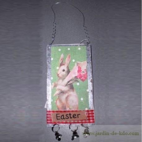 Plaque anglaise de Pâques avec cloches