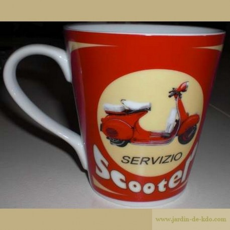 Mug Scooter Rétro Rouge