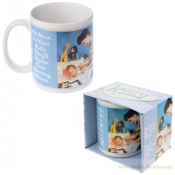 Mug rétro humour ''Be nice to your kids''