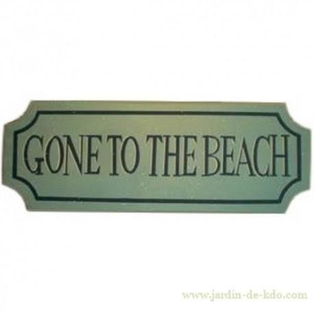 """Panneau en bois """"Gone To The Beach"""""""