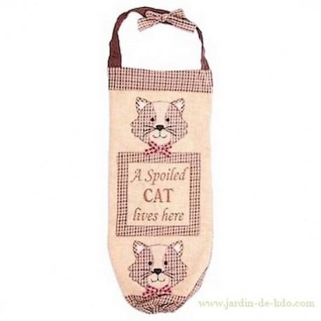 "Sac à sacs ""A Spoiled Cat Lives Here"""