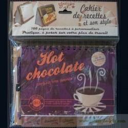 """Cahier de recettes """"Hot Chocolate"""" avec stylo"""