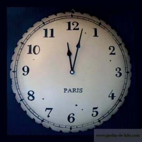 Horloge ancienne Paris en résine