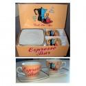 """Coffret 2 tasses et soucoupes """"Fresh Hot Coffee"""""""