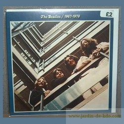"""Carte """"Album Bleu – The Beatles"""" enveloppe"""