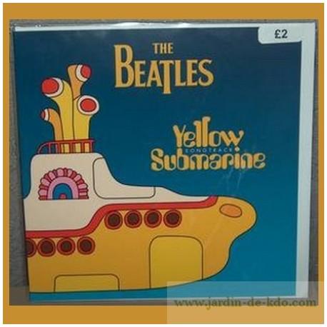 Carte The Beatles Fab Four Sous-Marin Jaune