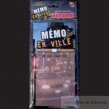 Mémo ville new york nuit crayon à papier