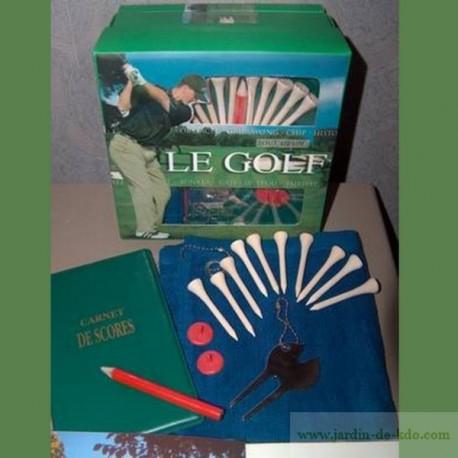 Coffret cadeau le golf avec guide et accessoires