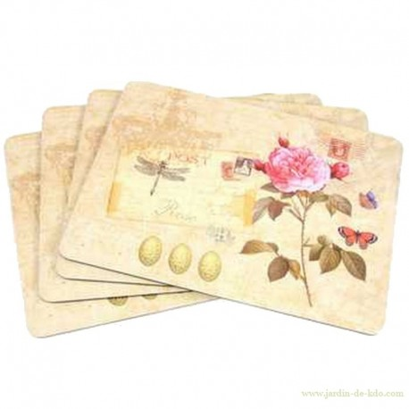 Lot de 4 sets de table - Rose -