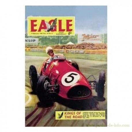 Plaque métal magazine Eagle voiture course