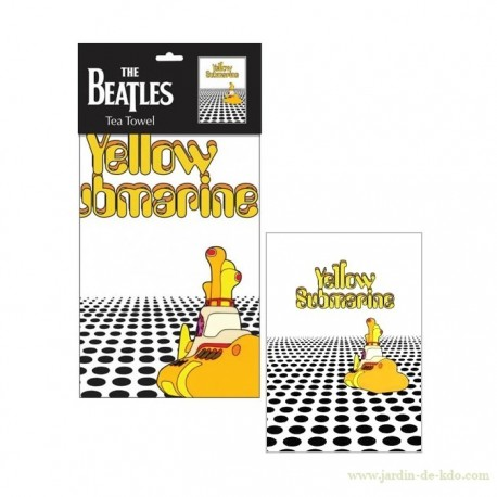 Torchon Yellow Submarine Tea Towel Beatles