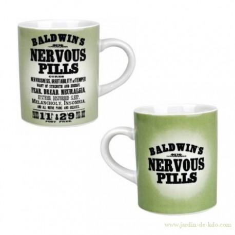 "Mug ""Baldwin's – Nervous Pills"" Vintage"