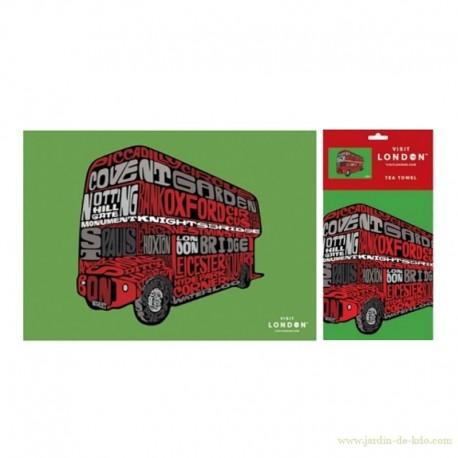 Torchon Visit London Tea Towel Import
