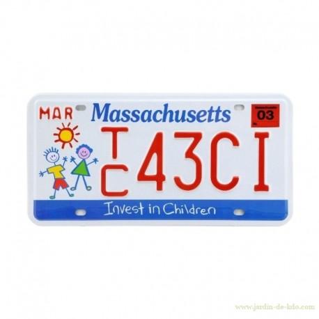 Plaque USA Car Massachusetts Invest In Children