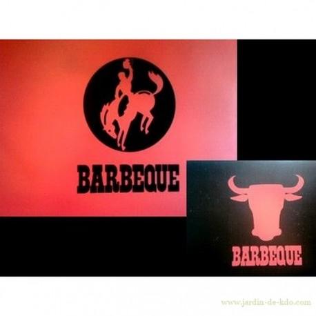 """Ensemble 4 sets de table """"Rodéo"""" style Resto Buffalo Grill"""