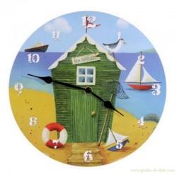 Horloge cabane du pêcheur bord de mer