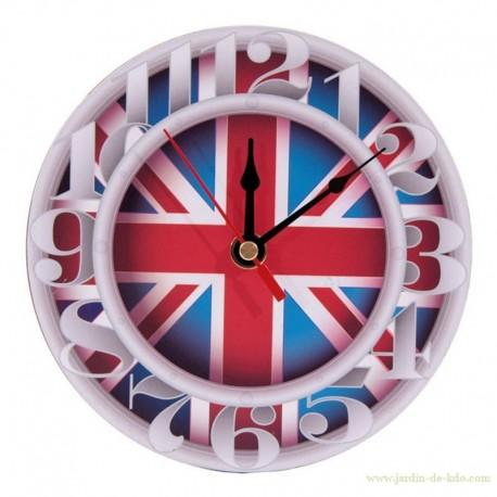 Horloge drapeau Union Jack gros chiffres