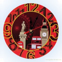 Horloge Graphic London Pictures Symboles Anglais
